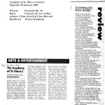 2001 January 22 - Concert Reviews
