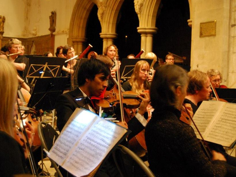Academy concert in St Olave's Church, September 2012