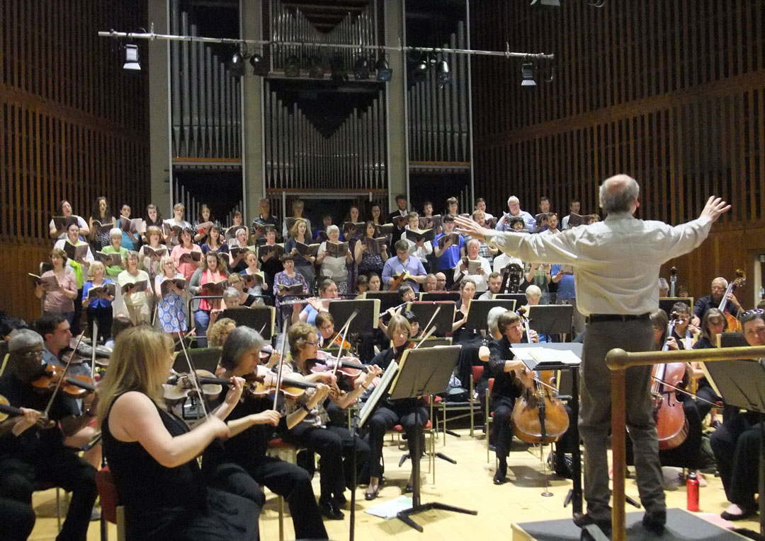 Alan George rehearses Beethoven's 9th Symphony for the 20th anniversary of Jessie's Fund in June 2015