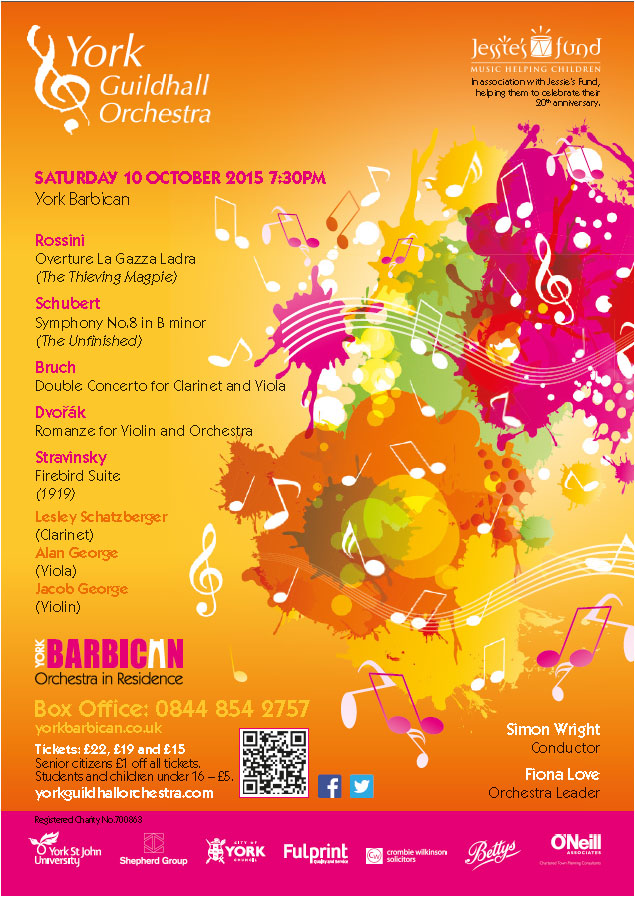 Guildhall Orchestra October 2015 Poster