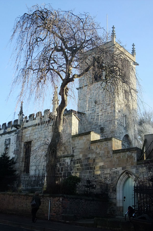 St Olave's Church in Winter
