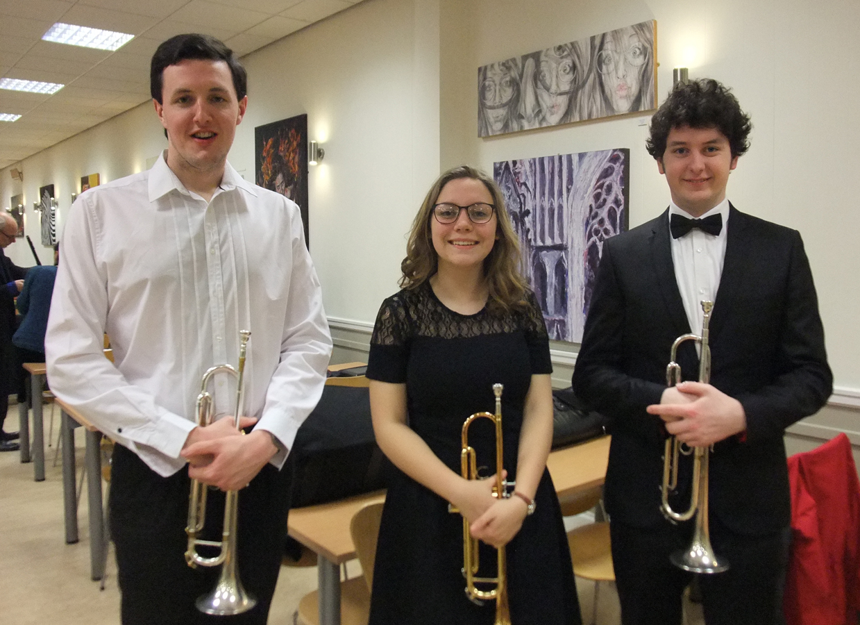 Trio of Trumpets: Mike O'Farrell, Eve Battersby and Connor McLean- January 2016