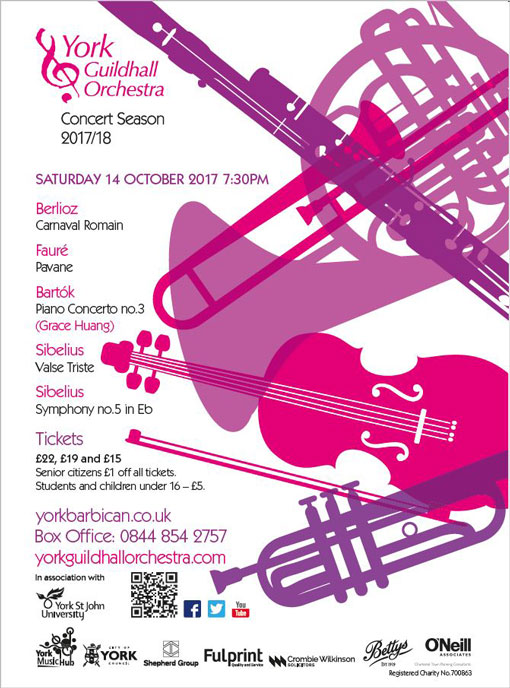 Guildhall Orchestra Poster - October 2017