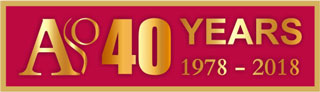 ASO 40 years logo